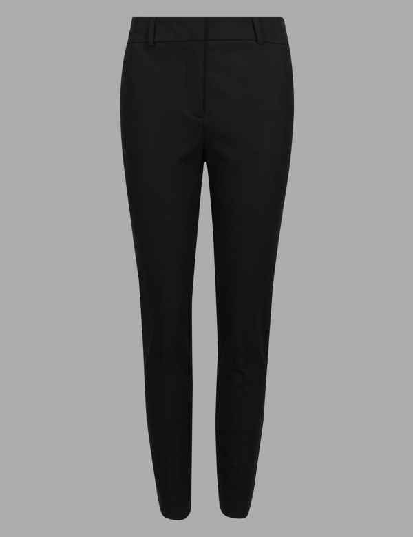 139077c2 Cotton Rich Slim Leg Ankle Grazer Trousers. Autograph