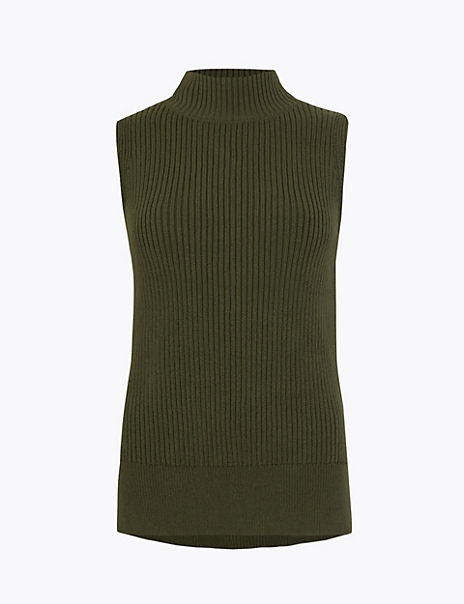Knitted Ribbed Tank Top