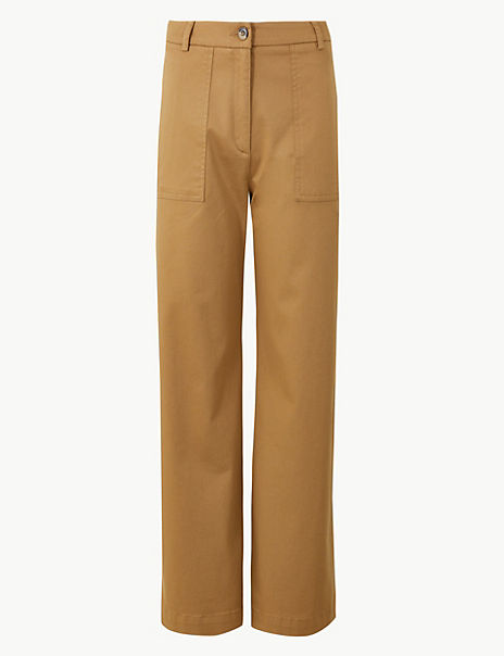 Wide Leg Utility Style Trousers