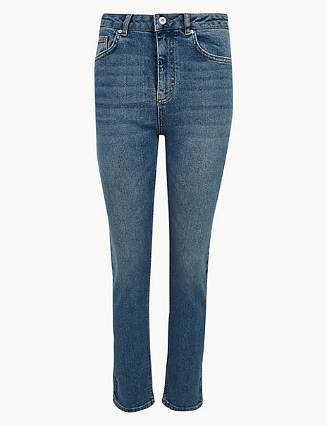 Authentic Straight Leg Cropped Jeans