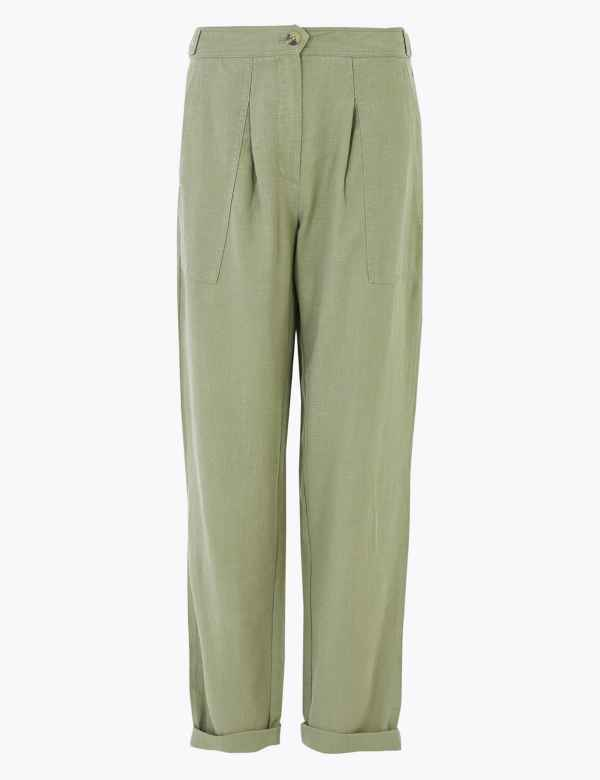 *NEW Women/'s PLUS SIZE /& CURVE Leaf Green CREPE PLEAT Front Trousers MADE IN UK*