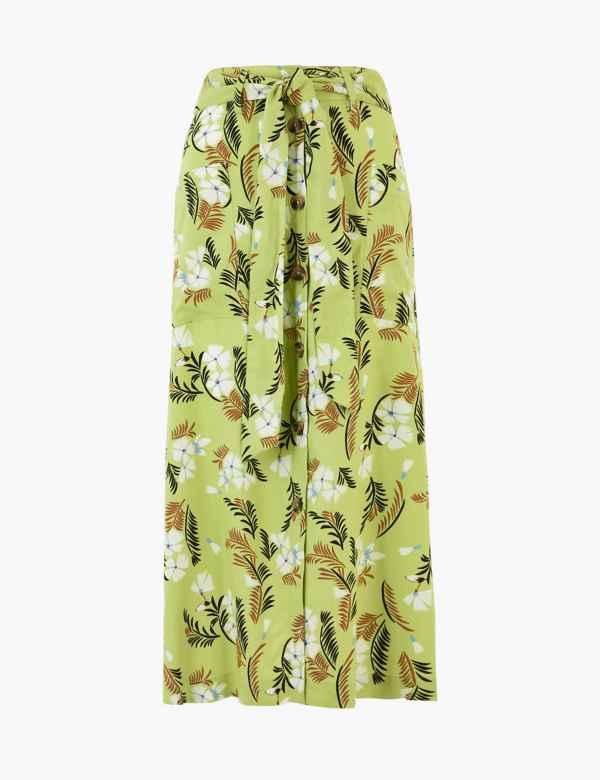 M/&S LTD EDITION Knitted ANIMAL PRINT Midi PENCIL SKIRT ~ Size XL ~ CAMEL Mix