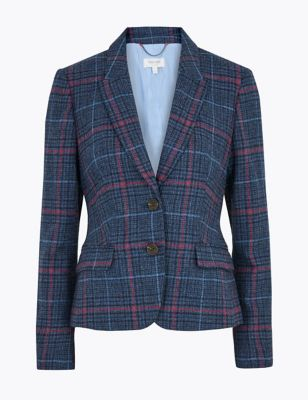 Wool Checked Hacking Jacket