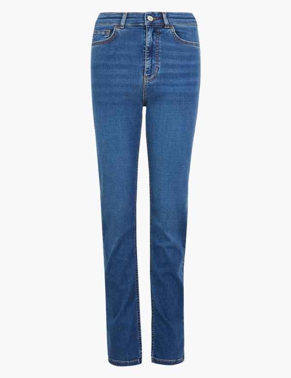 New Womens Marks & Spencer Blue Wide Leg Crop Jeans Size 22 20 18 16 14 12 8 Clothing, Shoes & Accessories