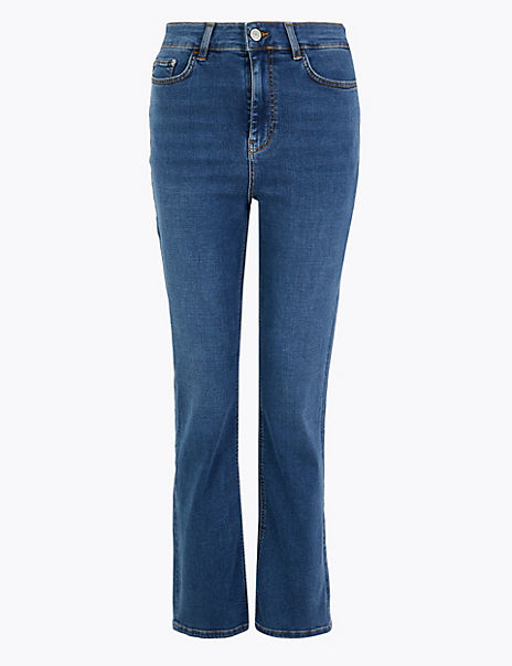 Kick Flare Cropped Jeans
