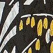 Leaf Print 3/4 Sleeve Relaxed Midi Dress , BLACK MIX, swatch