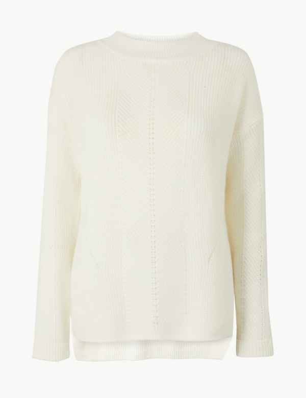 e234d778950d Cream Knitwear | Womens Ivory Cardigans & Jumpers | M&S
