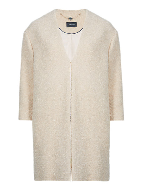 Textured Duster Coat with New Wool