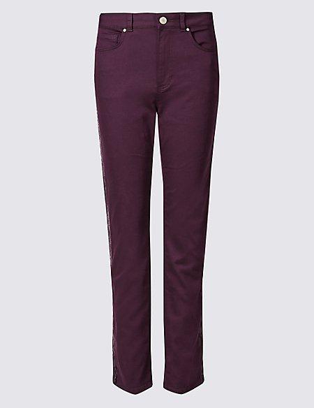 Velvet Mid Rise Skinny Leg Jeans