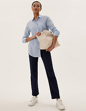 Sateen Roma Rise Straight Leg Jeans