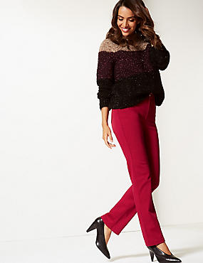 Straight Leg Roma Rise Jeans , LACQUER RED, catlanding