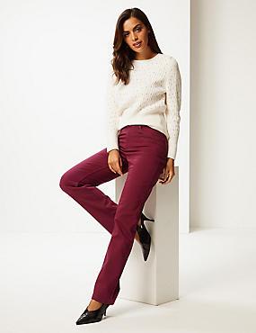 Roma Rise Straight Leg Jeans