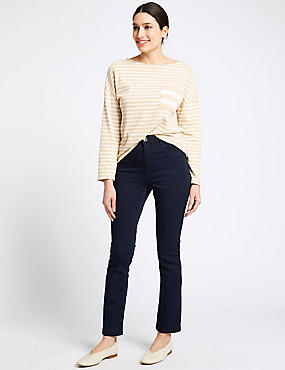 Roma Rise Slim Leg Jeans