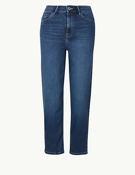 Sculpt & Lift Straight Leg Cropped Jeans