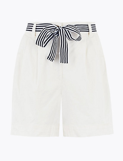 Moms Care Baby Boys Shorts Cotton Chino Shorts Fitted with Adjustable Waist Pants Kids Summer Clothes