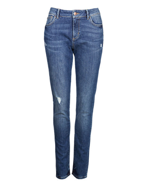 Skinny Fit Ripped Denim Jeans