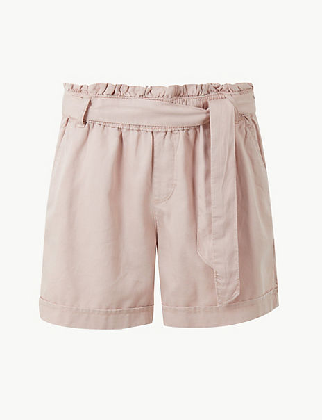 Tie Waist Casual Shorts with Cotton