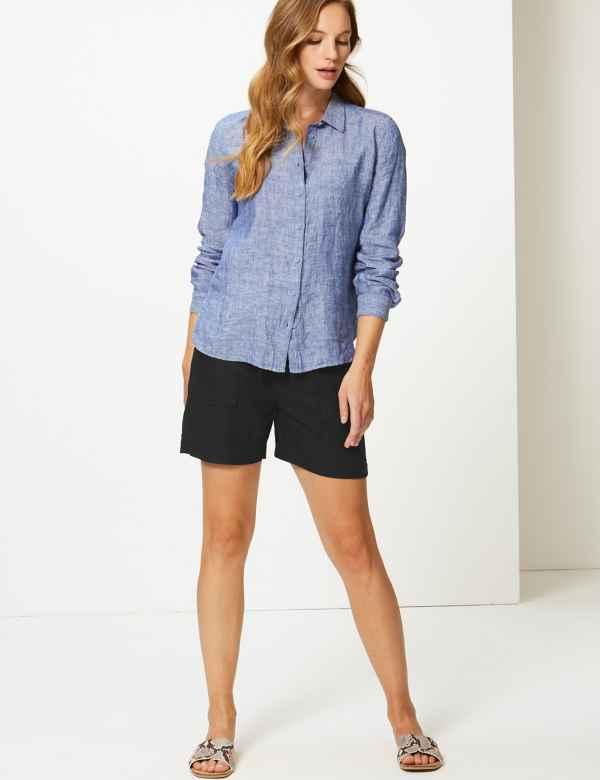 80238d20f63 Linen Rich Shorts