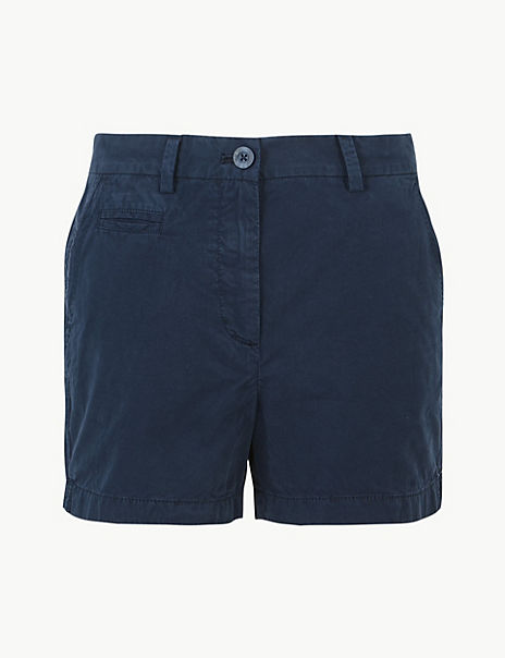 Shorter Length Pure Cotton Chino Shorts