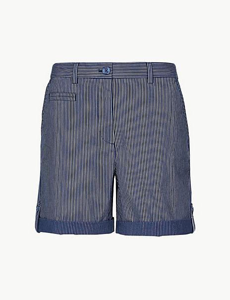 Cotton Rich Striped Chino Shorts