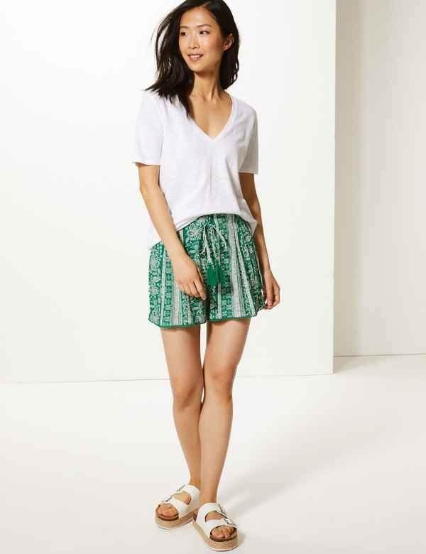 6360a469719 Printed Casual Shorts