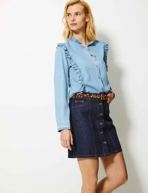 8d5c288b2f Denim Mini Skirt. M&S Collection