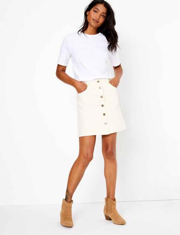 891d9fa0e Denim A-Line Mini Skirt