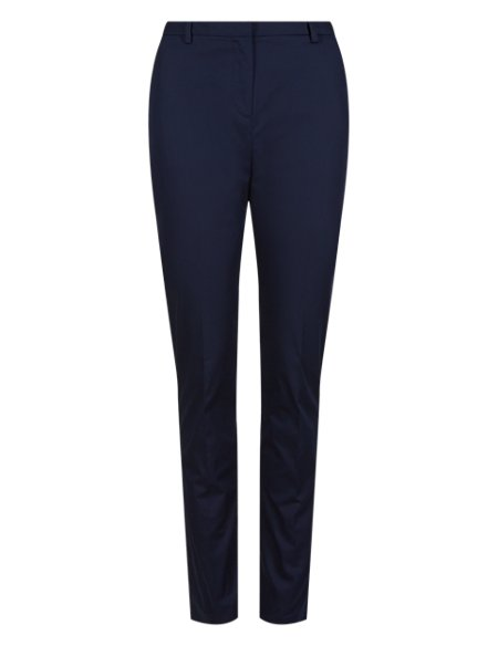 Cotton Rich Tapered Leg Trousers