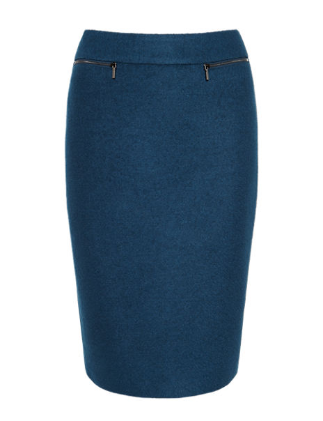Knee Length Pencil Skirt with New Wool