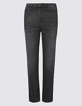 High Rise Ankle Straight Jeans
