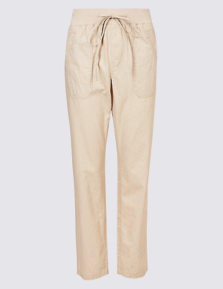 Pure Cotton Straight Leg Chinos