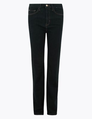 M/&S Off Black Model Blend Skinny Jeans Long Size 24 BNWL