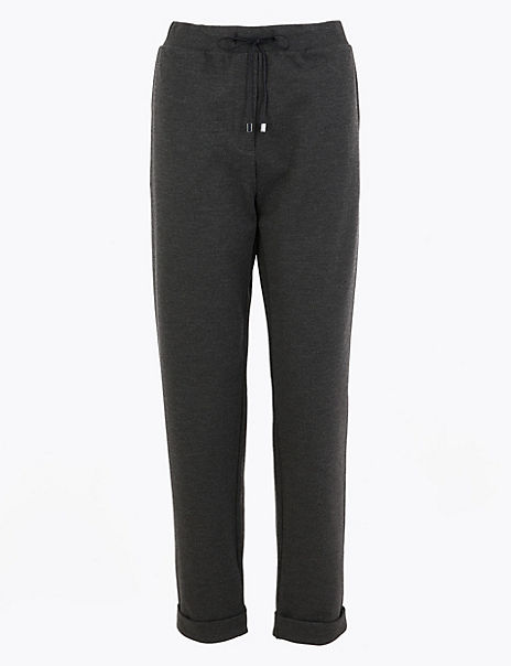 Twill Tapered Ankle Grazer Trousers