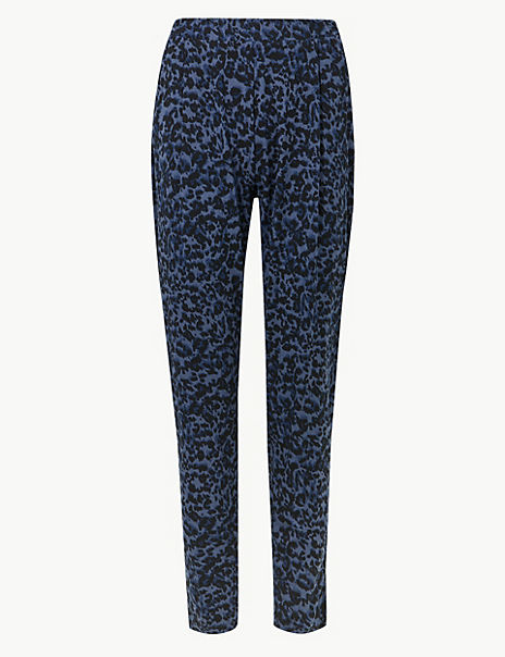 Animal Print Jersey Peg Trousers