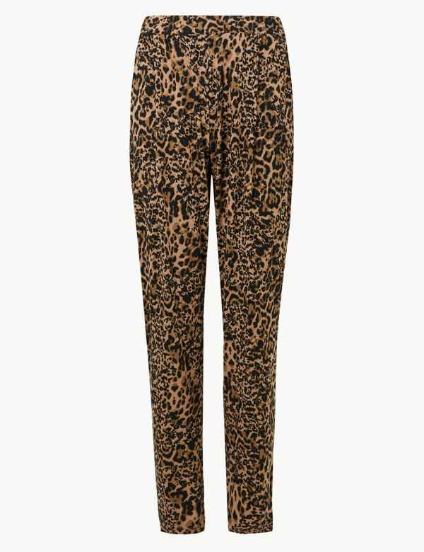 42fd7b5821976 Animal Print Jersey Peg Trousers