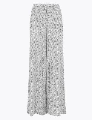 Polka Dot Wide Leg Trousers