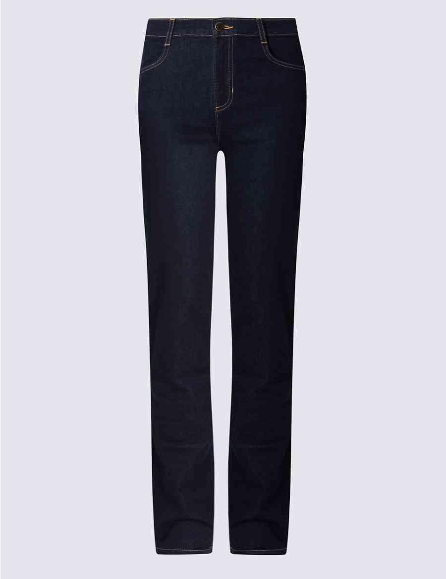 44eec4b43a7 Mid Rise Straight Leg Jeans