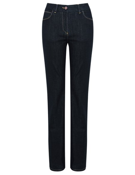 Slim Fit Denim Bootleg Jeans
