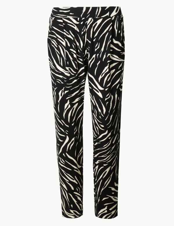 42b3d319ef35 Animal Print Jersey Tapered Trousers. M&S Collection