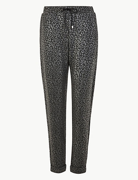 Jacquard Tapered Ankle Grazer Trousers