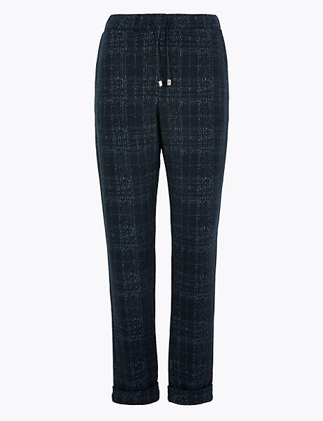Checked Comfort Trousers
