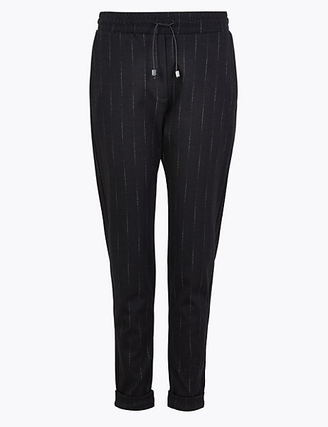 Herringbone Tapered Ankle Grazer Trousers