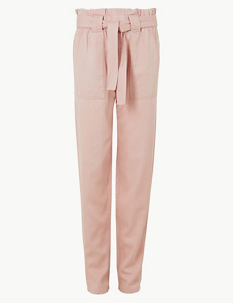 Tapered Leg Ankle Grazer Trousers