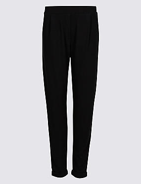 Jersey Tapered Leg Trousers