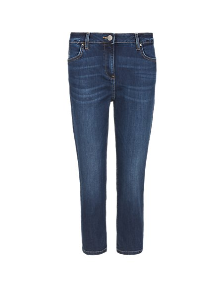 Relaxed Skinny Cropped Jeans