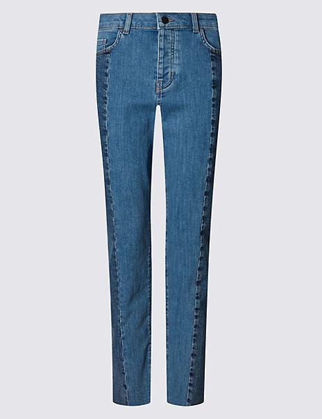 Seam Straight Leg Jeans