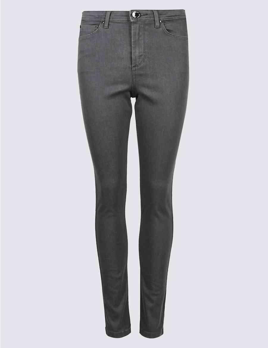 18087cc73ae Sparkle Tux Trim Cotton Rich Skinny Jeans