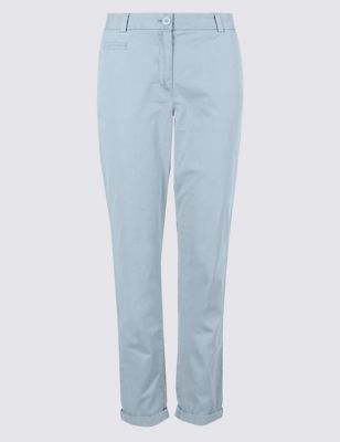 Pure Cotton Tapered Chinos by Marks & Spencer