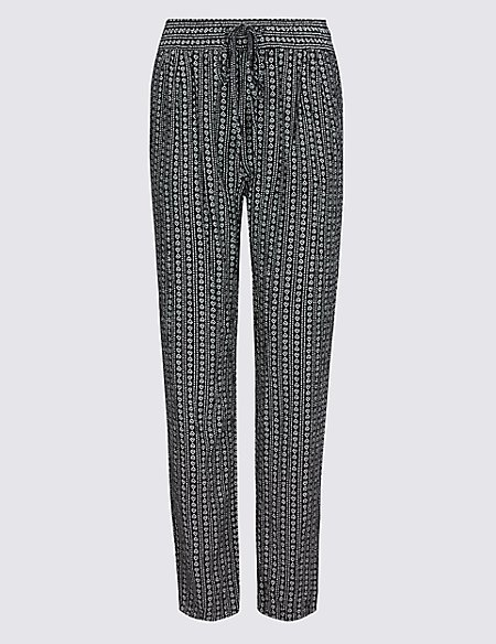 Marks & Spencer Geometric Print Tapered Leg Trousers - - 6/Regular For Sale Cheap Real Outlet Enjoy Outlet Many Kinds Of Buy Cheap Enjoy Factory Outlet Sale Online E8gqqf