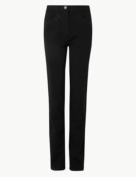 Embellished Ankle Grazer Trousers